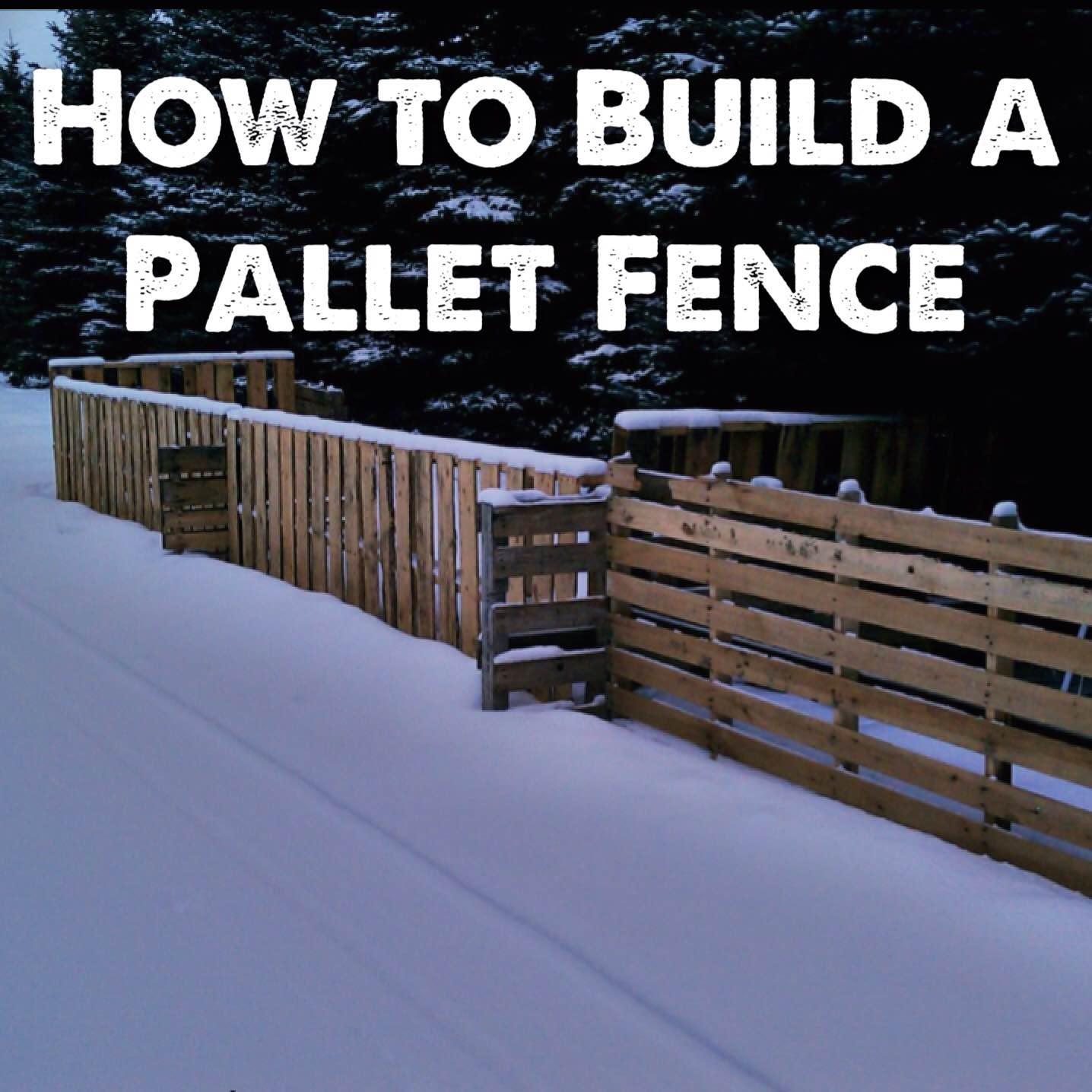 How to Build a Pallet Fence