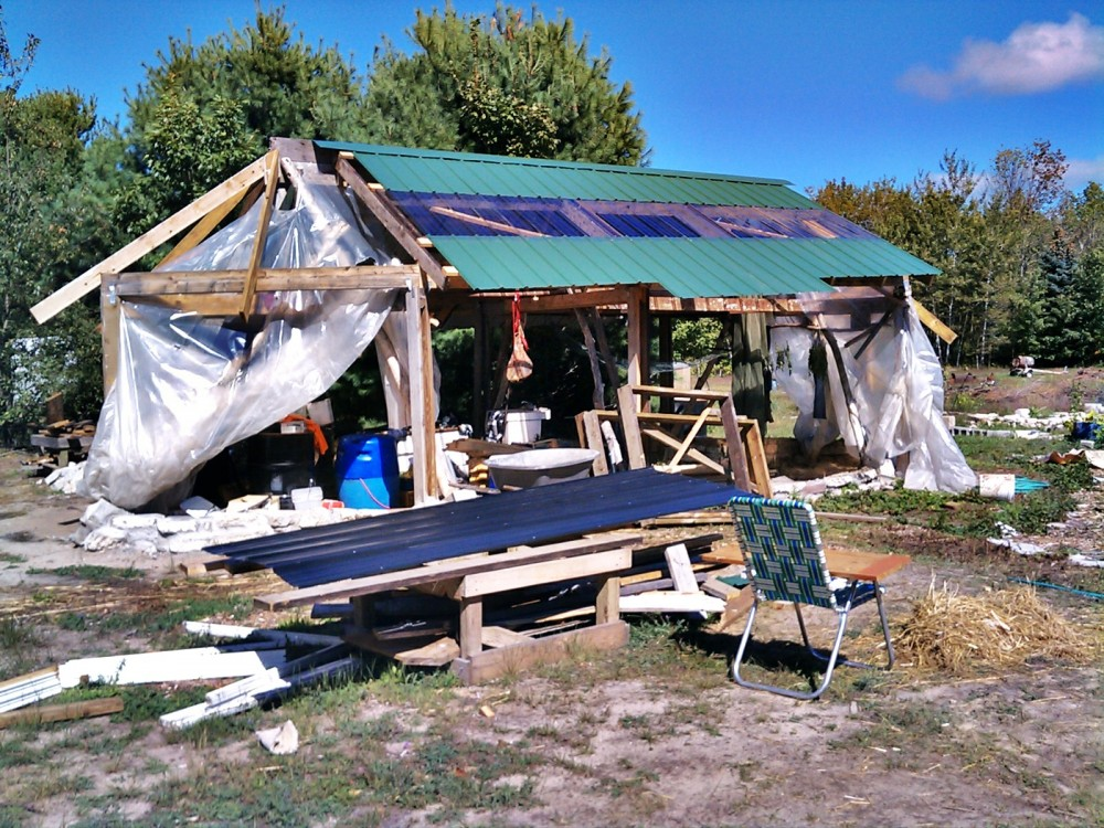roofing passive solar greenhouse