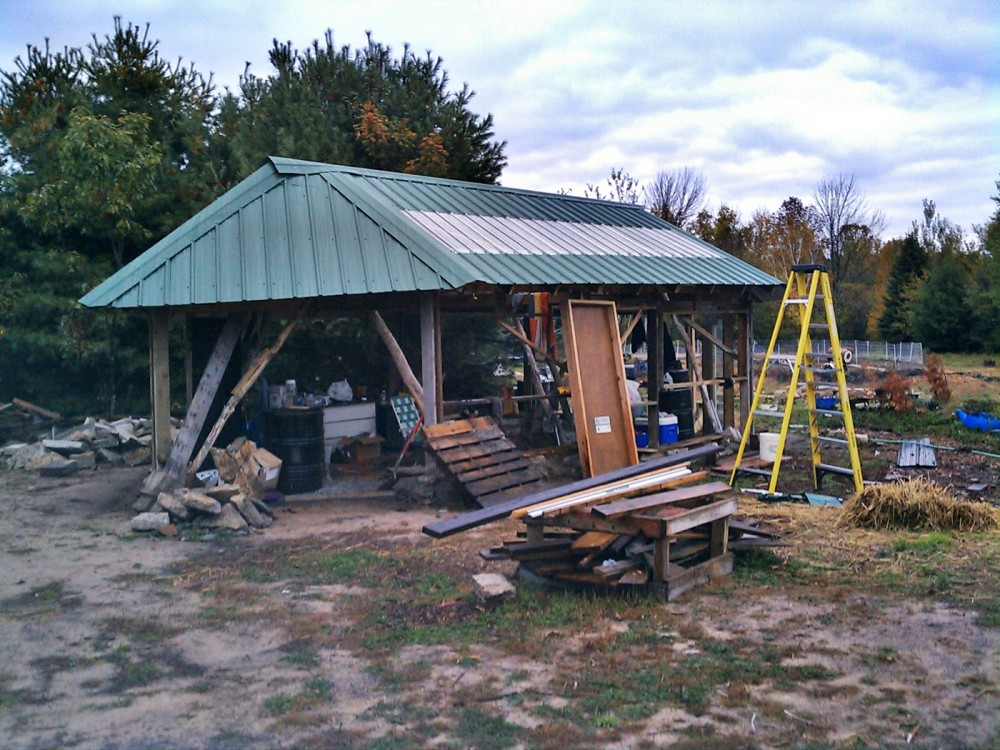 finished roof passive solar greenhouse